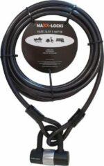 Grijze Maxx-Locks Oban Kabelslot - 5 Meter x 12mm (Bootslot, Tuinmeubel slot, Terras slot)