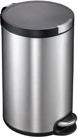 Afbeelding van Roestvrijstalen Pedaalemmer - Artistic Step - Voetpedaal - 12l Liter - mat RVS - EKO
