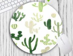Groene Leukste Winkeltje LeuksteWinkeltje muismat Cactus - met textiel toplaag - rond 20 cm