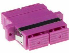 Paarse ACT Intronics Fiber optic SC-SC duplex adapter OM4