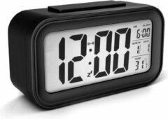 JustAnotherProduct JAP Clocks AC18 digitale wekker - Alarmklok - Inclusief temperatuurmeter - Met snooze en verlichtingsfunctie - Zwart