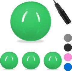 Relaxdays 4x fitnessbal 85 cm - gymbal - zitbal - yogabal - pilatesbal - kantoor - groen