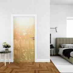 Roze Wallstation Deursticker Bloemen 19 - 100 x 250 cm - Gratis installatie-kit - Snelle levering