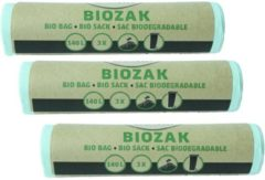 Groene Dumil Bio Bag - biozak 140 liter Multipack 3 rollen van 3 zakken