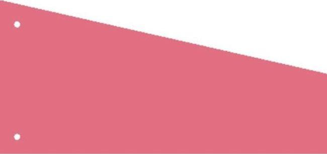 Afbeelding van Kangaro 07070-13-TR Scheidingsstrook 2-gaats Trapezium 180gr RC Roze