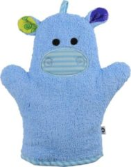 Zoocchini washandje Henry the Hippo Nijlpaard blauw