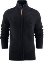 Zwarte Harvest Vest met rits James Harvest Sports Wear Heren Vest Maat S