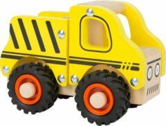 Witte SFC Toys Houten speelgoed auto - Bouwplaats auto - FSC - Auto speelgoed - houten speelgoed vanaf 1,5 jaar