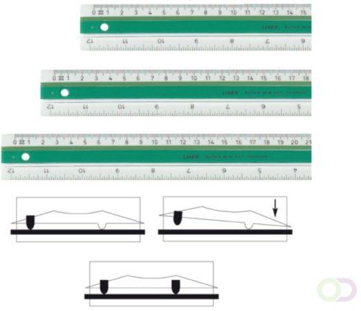 Afbeelding van Bruna Liniaal Linex super S20 200mm transparant