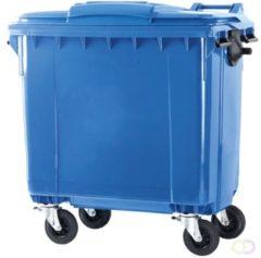 Ese 4 wiel container 770 liter blauw
