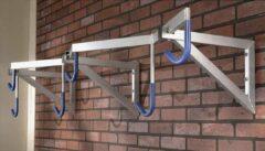 Mottez - Fietsenrek - fietsrek PRO muurbevestiging (6 fietsen hangend)