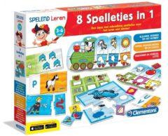 Clementoni - NL Educational Games - No Licence Spelend Leren - 8 Spelletjes in 1