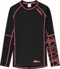O'Neill Logo Long Sleeve Shirt Skins Surfshirt - Maat 104 - Vrouwen - zwart/roze/oranje Maat 104