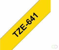 Bruna Labeltape Brother P-touch TZE641 18mm zwart op geel