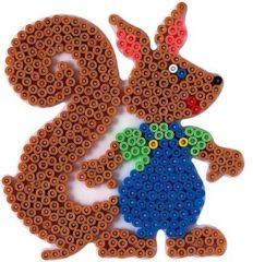 Dkl Strijkkralen grondplaat eekhoorn