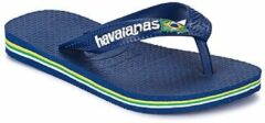 Marineblauwe Havaianas Kids' Brasil Logo Flip Flops - Navy Blue - EU 29-30/UK 12 Kids - Navy