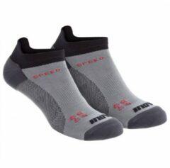 Grijze Inov-8 - Speed Sock Low - Loopsokken maat L grijs/zwart