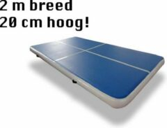 Dutchairtrack AirTrack Pro - Turnmat - Gymnastiek blauw| 400x200x20 CM | Sporten & Spelen | Buiten & Binnen | Waterproof | Met elektrische pomp