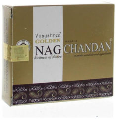 Vijayshree Wierook Golden Nag Chandan Cones (10st)