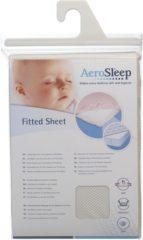 AeroSleep polyester baby hoeslaken wieg 40x80 cm Ecru