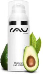 RAU Cosmetics RAU Hyaluron 24h anti-age gezichtscrème - 50 ml - met anti-age effect - voor droge huid met avocado-olie, sheabutter en hyaluronzuur