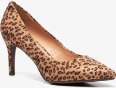 Nova dames pumps met luipaardprint - Bruin - Maat 40