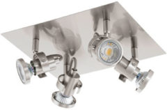 Grijze EGLO Tukon 3 - Spot - 4 Lichts - LED - Nikkel-Mat