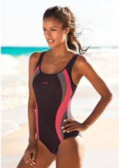 Bruine Venice Beach badpak met trendy logoprint