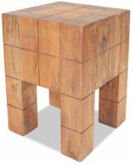 Bruine VidaXL Kruk 28x28x40 cm massief gerecycled hout