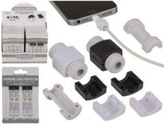 Bescherming voor oplaadkabel zwart/wit