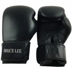 Zwarte Bruce Lee Signature Bokshandschoenen PRO - Leer - 12oz