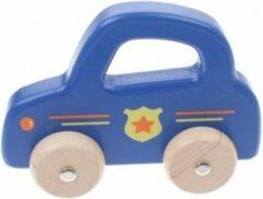 Jouéco Houten Auto 16 Cm Blauw