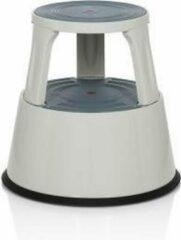 Hjh OFFICE Tio-M II - Werkstoel / werkkruk/ verhoogde bureaustoel - Lichtgrijs - Metaal, Kunststof