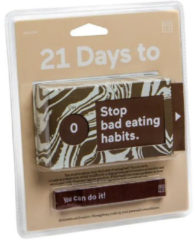 Doiy Tickets 21 Days To Stop Bad Eating Habits papier bruin