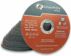 CHAMPION TOOLS Champion Slijpschijven 125 x 1.2 mm - 50 Stuks - Max Snelheid 12200 RPM