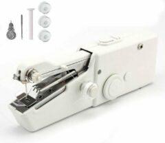 Witte FLOKOO Handnaaimachine - Elektrische Mini Handnaaimachine voor Repareren van Kleding Scheuren of Gaten - Compact voor Reizen of Vakantie - Draadloze Hand Naaimachine op Batterijen