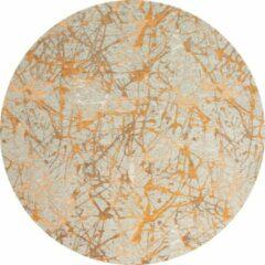 Oranje Flooo Rond vloerkleed - Splash - Tapijten Woonkamer - Hydra - 200 ø