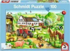 Schmidt Puzzel Op De Boerderij - 100 Stukjes