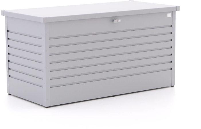 Afbeelding van Grijze Biohort Opbergbox/Hobbybox 160 zilver metallic - 159 x 79 x 83 cm