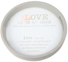 Grijze Cosy&Trendy Love my home dienblad 30 cm
