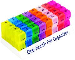 Aidapt - pillendoos - voor de hele maand - medicijndoos