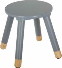 Atmosphera for kids Kinderkrukje grijs voor aan een kleine kindertafel - kinderstoel - krukje - bijpassende tafel ook te verkrijgen bij ons (BEAU By Bo) - houten stoel voor kinderen