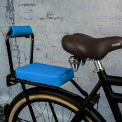 Blauwe Ohmiomine Complete Set : bagagedrager-kussen en rug-rolkussentje incl. voetsteuntjes en rugleuning