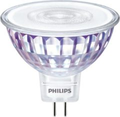 Philips MASTER LED Spot - 7W - Dimbaar - Warm Wit - GU5.3 Fitting - 50.5x45 mm - Transparant