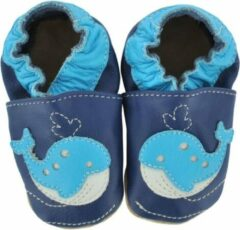 Blauwe Hobea Babyslofjes Walvis