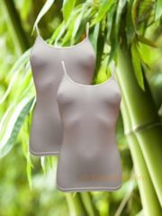 Witte Boru Bamboo | MAAT L | 2-pack dames spaghettihemd | wit