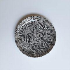 Witte Alperstein Designs Designbord rond - Pauline Napangardi Gallagher - Aboriginal collectie