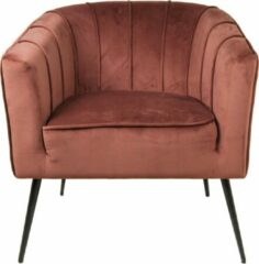 HSM Collection Fauteuil Chester - velours - champagne
