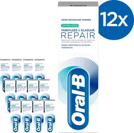 Afbeelding van Oral-B Tandvlees & Glazuur Repair Extra Fris - Voordeelverpakking 12x75 ml - Tandpasta