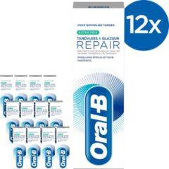 Oral-B Tandvlees & Glazuur Repair Extra Fris - Voordeelverpakking 12x75 ml - Tandpasta